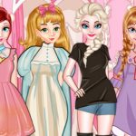 Princess Paper Doll Style Dress Up